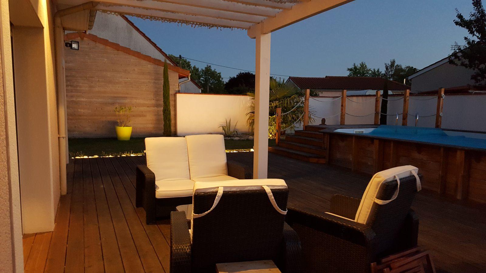 eclairage terrasse bois led best led terrasse bois. Black Bedroom Furniture Sets. Home Design Ideas